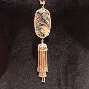 Kendra Scott Rayne Gold Abalone Pendant Necklace